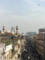 Moskes and hindu temples are all over in Delhi.