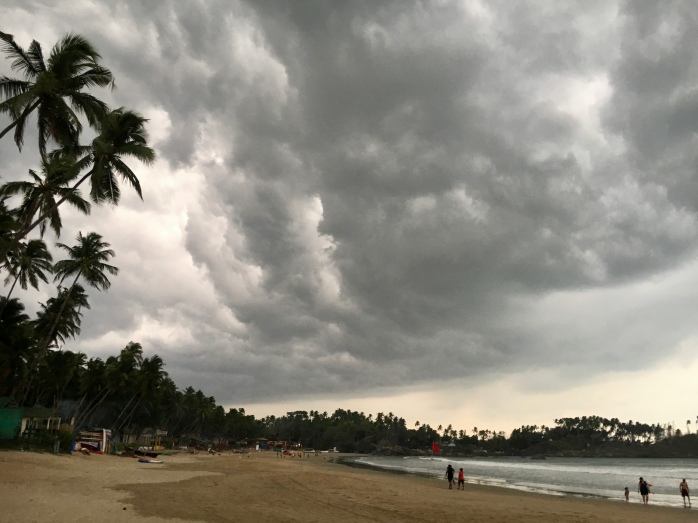 Beach in Palolem, Goa, before rainy season